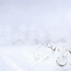 Mira & Helia robben durch den arktischen Schnee